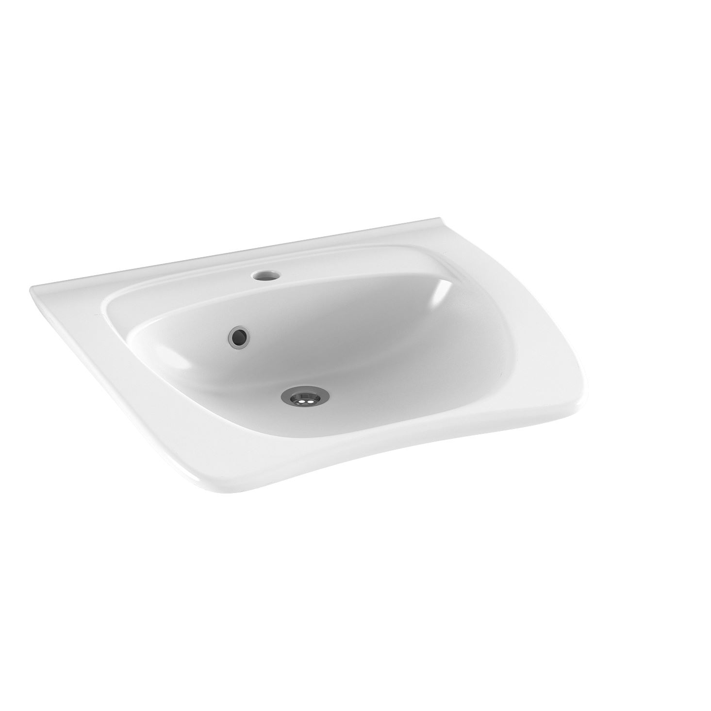MATRIX NEW CURVE ergonomic wash basin with tap hole and overflow