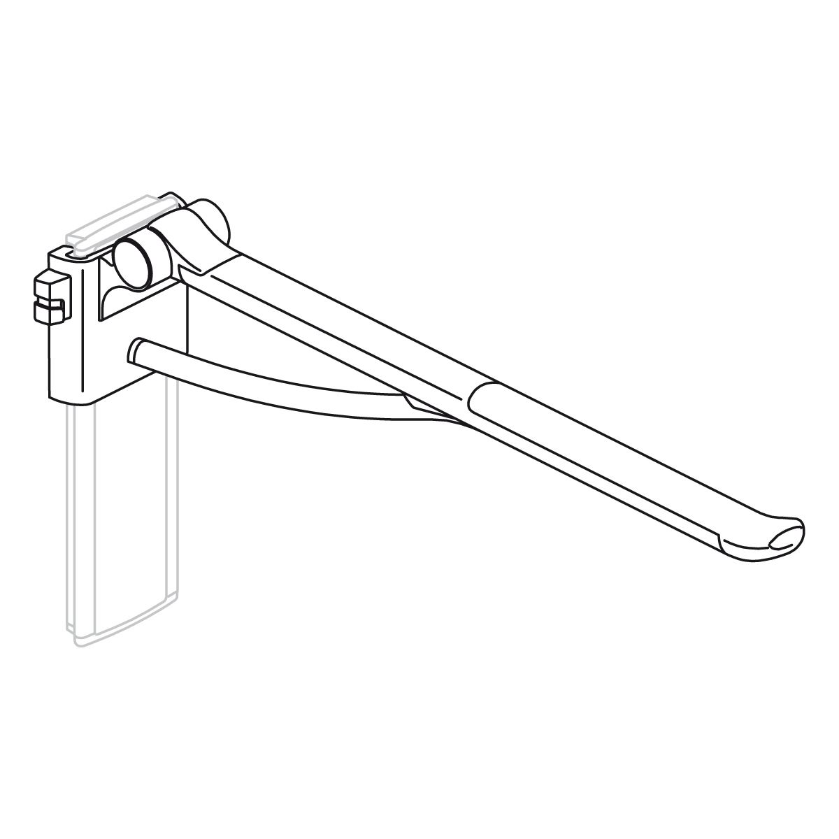 PLUS support arm, height adjustable